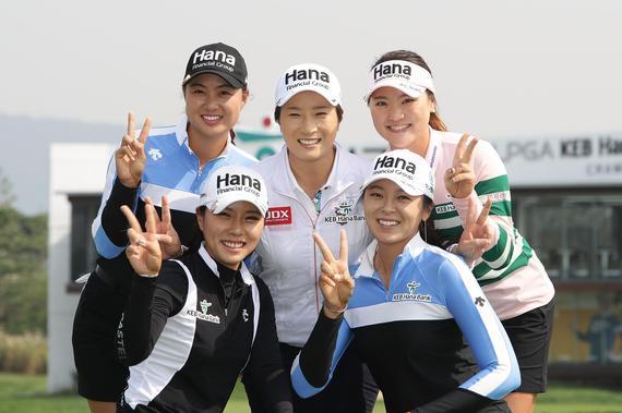 韩国女将集体致敬朴世莉(后排中)