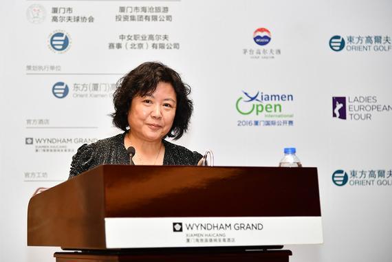 国家体育总局小球运动管理中心办公室副主任王延梅